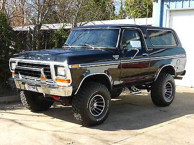 Ebay 1979 Ford Bronco Ranger Xlt Sport Utility 2 Door Restored