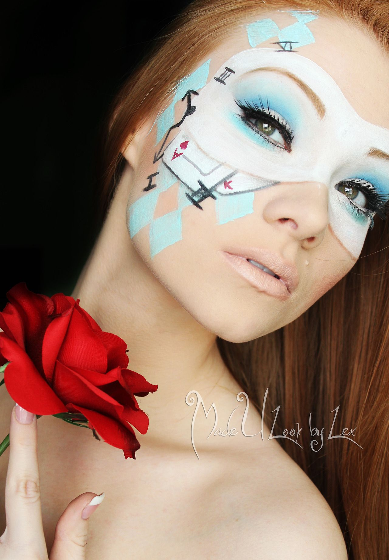 alice in wonderland face paint | alice & cosplay | pinterest