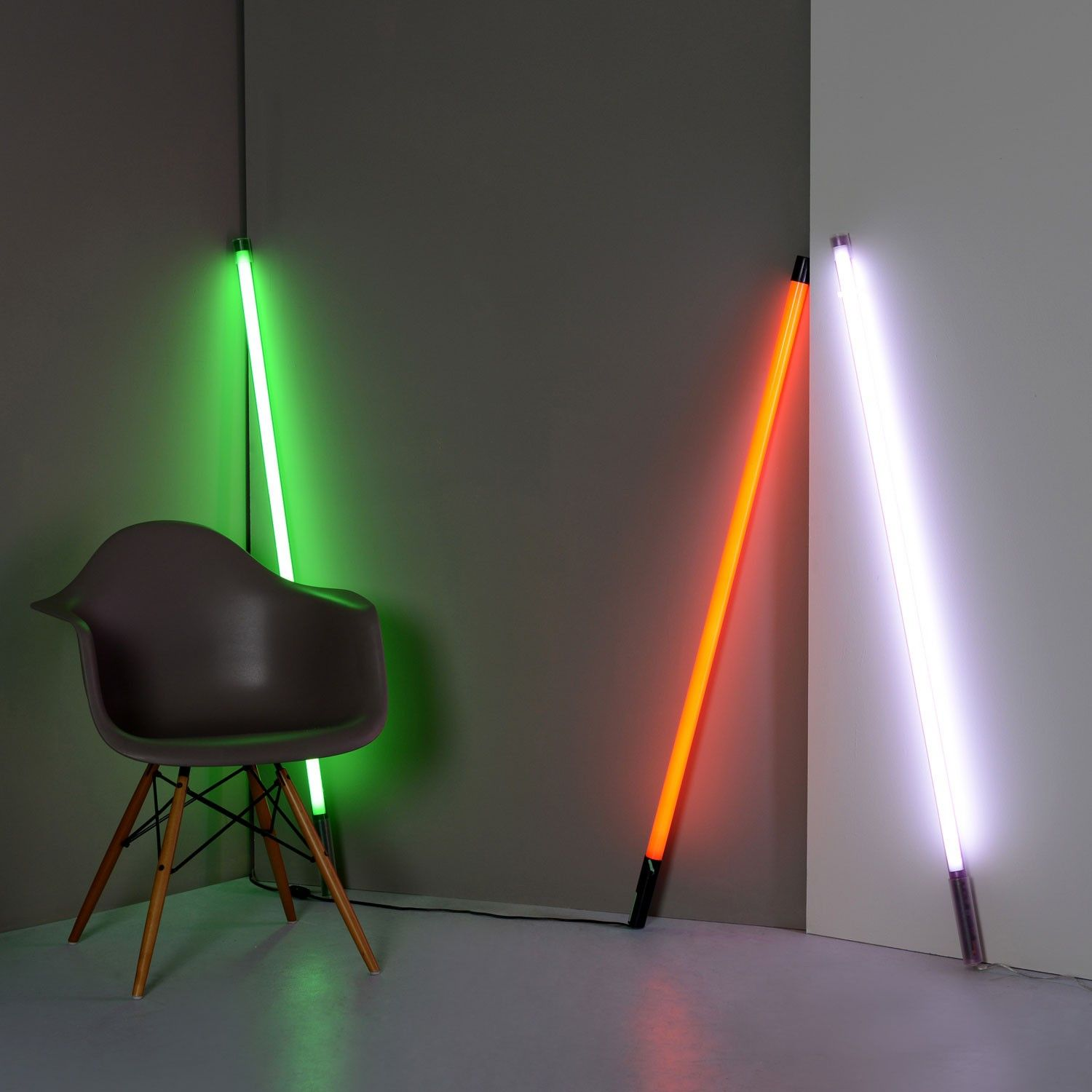 Complete With Hanging Clips For Wall Or Ceiling Mounting This Range Of Colourful Fluorescent Lighting Emit