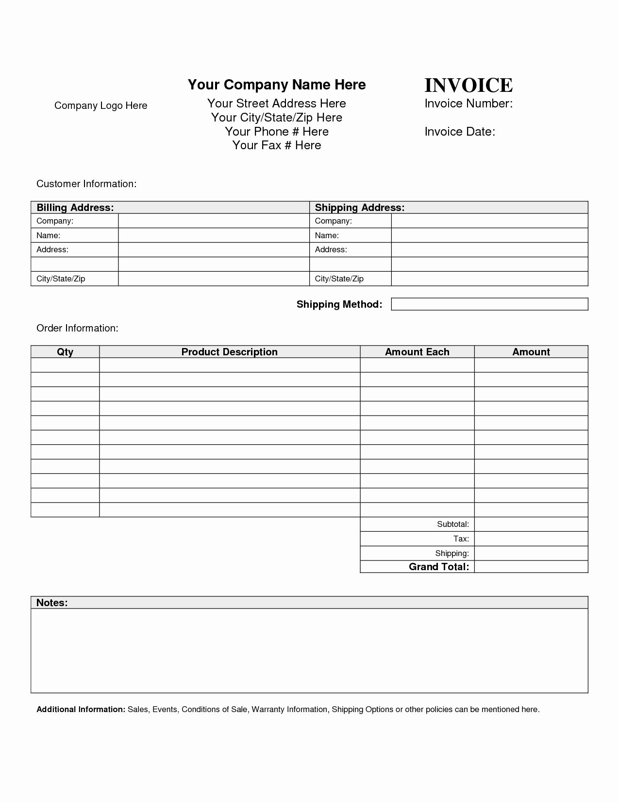 Billing Invoice Template Word Beautiful Free Downloads Invoice Forms Markmeckler Template Design Invoice Template Word Invoice Template Invoice Example