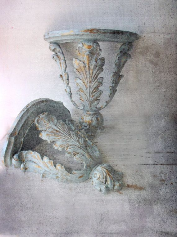 Old English Charm: Old World Charm Baroque Sconces. Ornate Majestic By