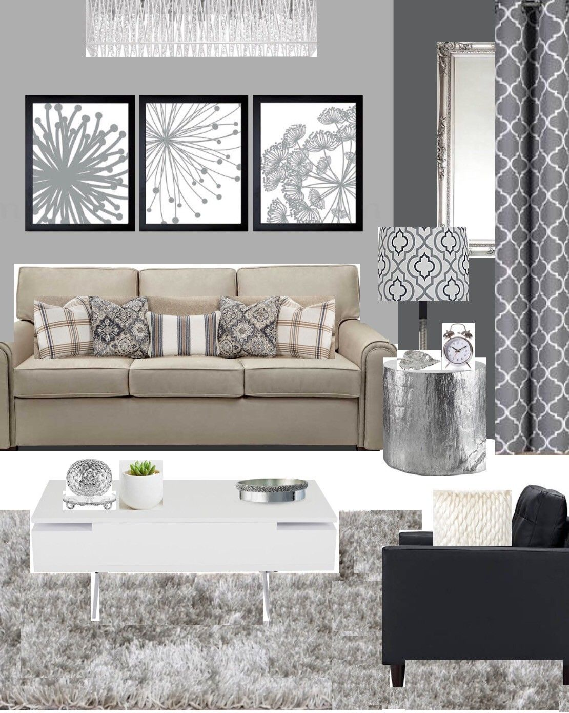 A Grey And Beige Combination Idea For A Living Room Beige Li