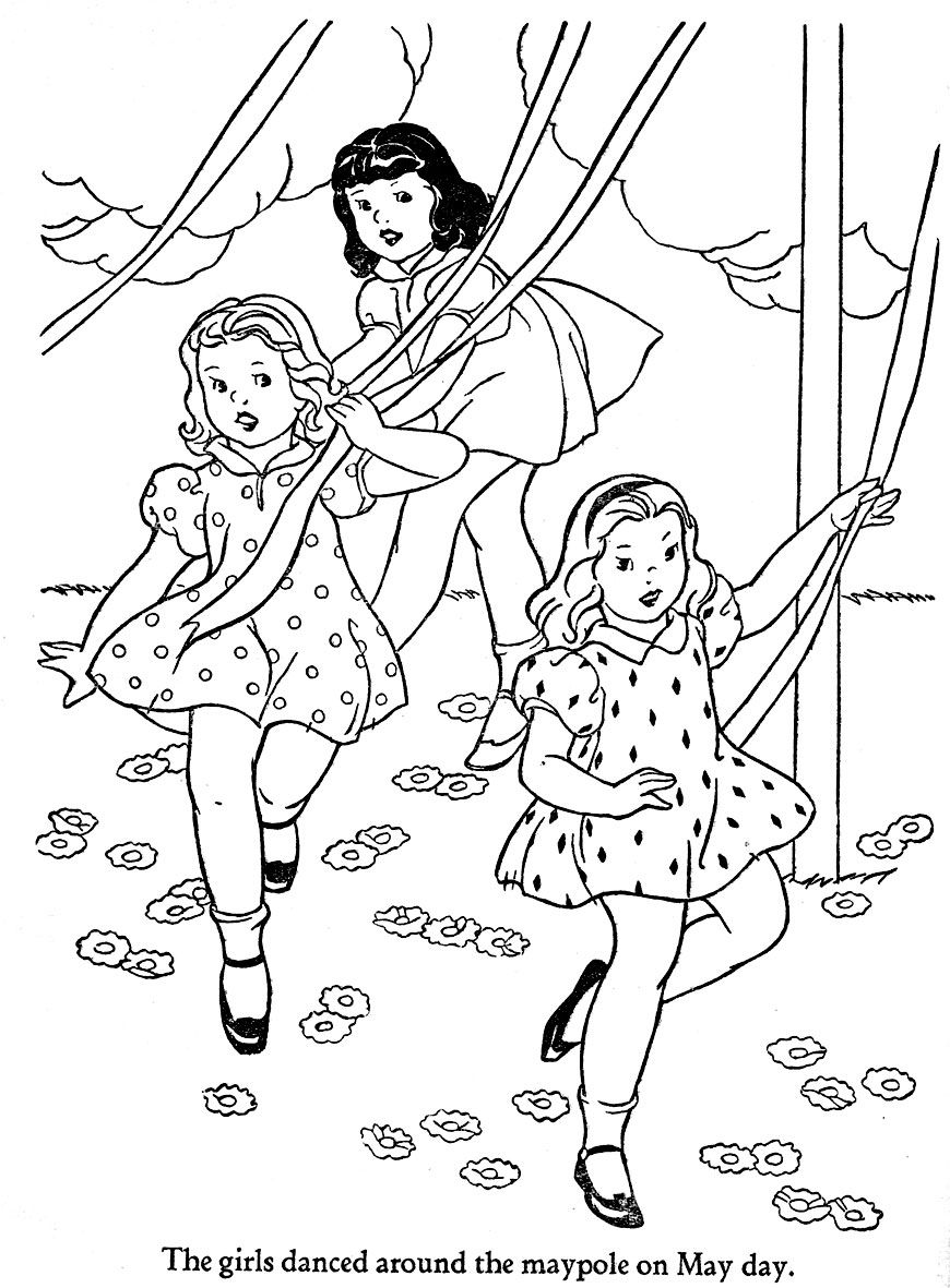 What Is May Day | May day coloring pages (With images ...