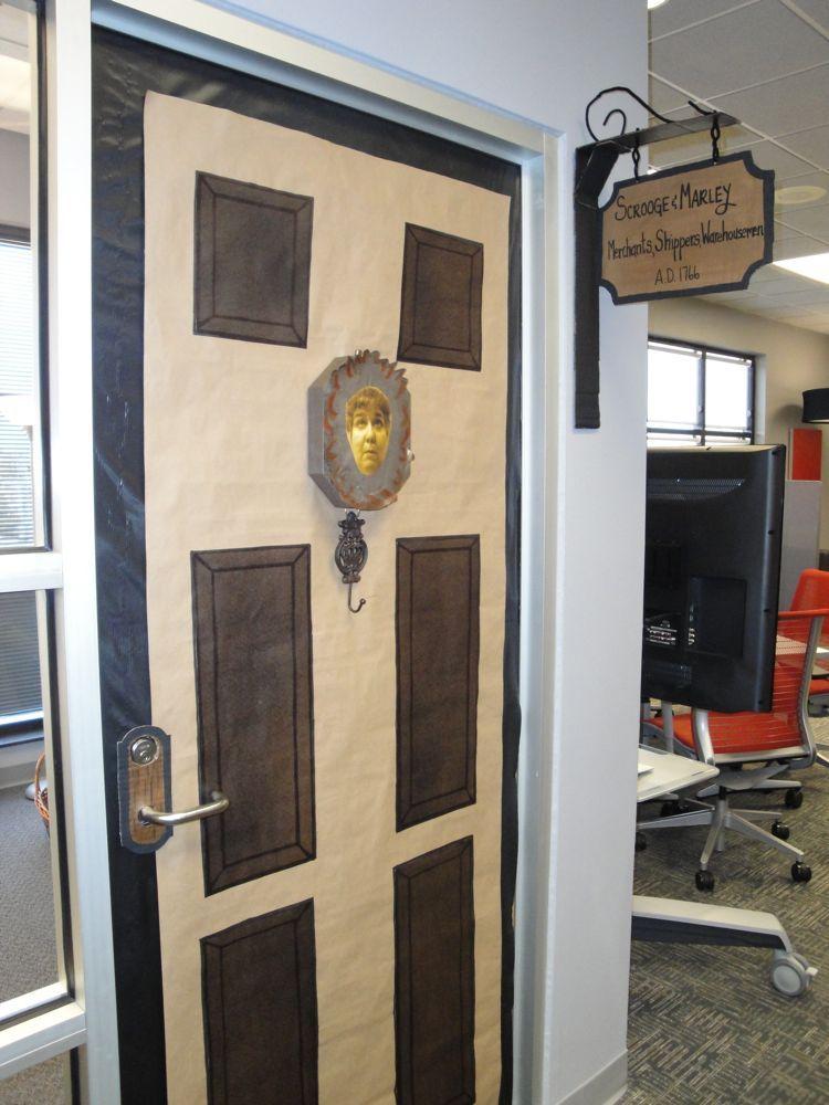 & Photo: Erin\u0027s Scrooge and Marley Door (yep that\u0027s Bonnie\u0027s face on ...
