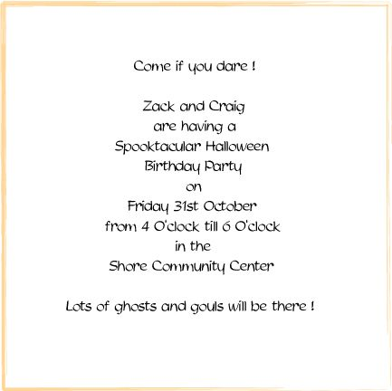 Halloween Invitation Wording In Spanish Party Invitations Printable