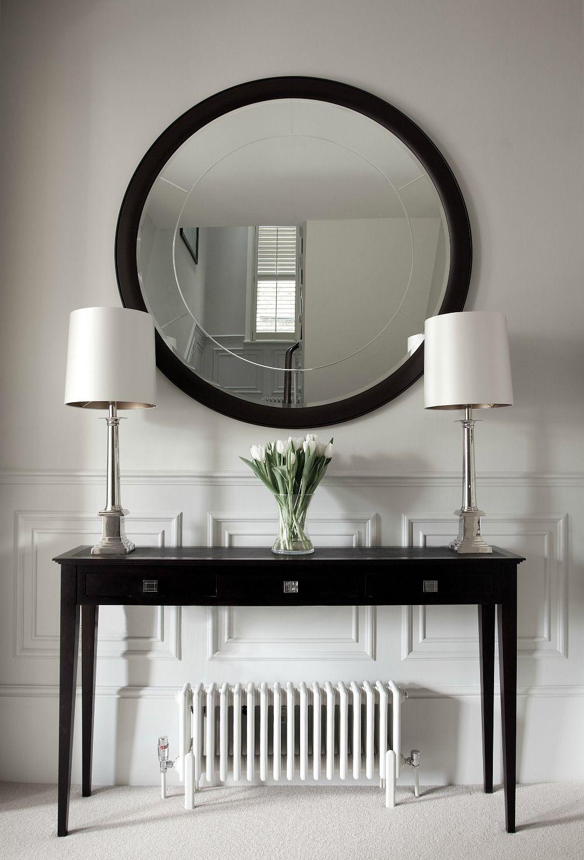 hall table and mirror. Round Mirror, Via Desire To Inspire - Cochrane Design Hall Table And Mirror L