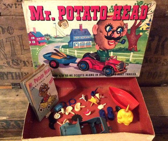 Vintage Authentic 1950's Mr. Potato Head With His by MADVintology