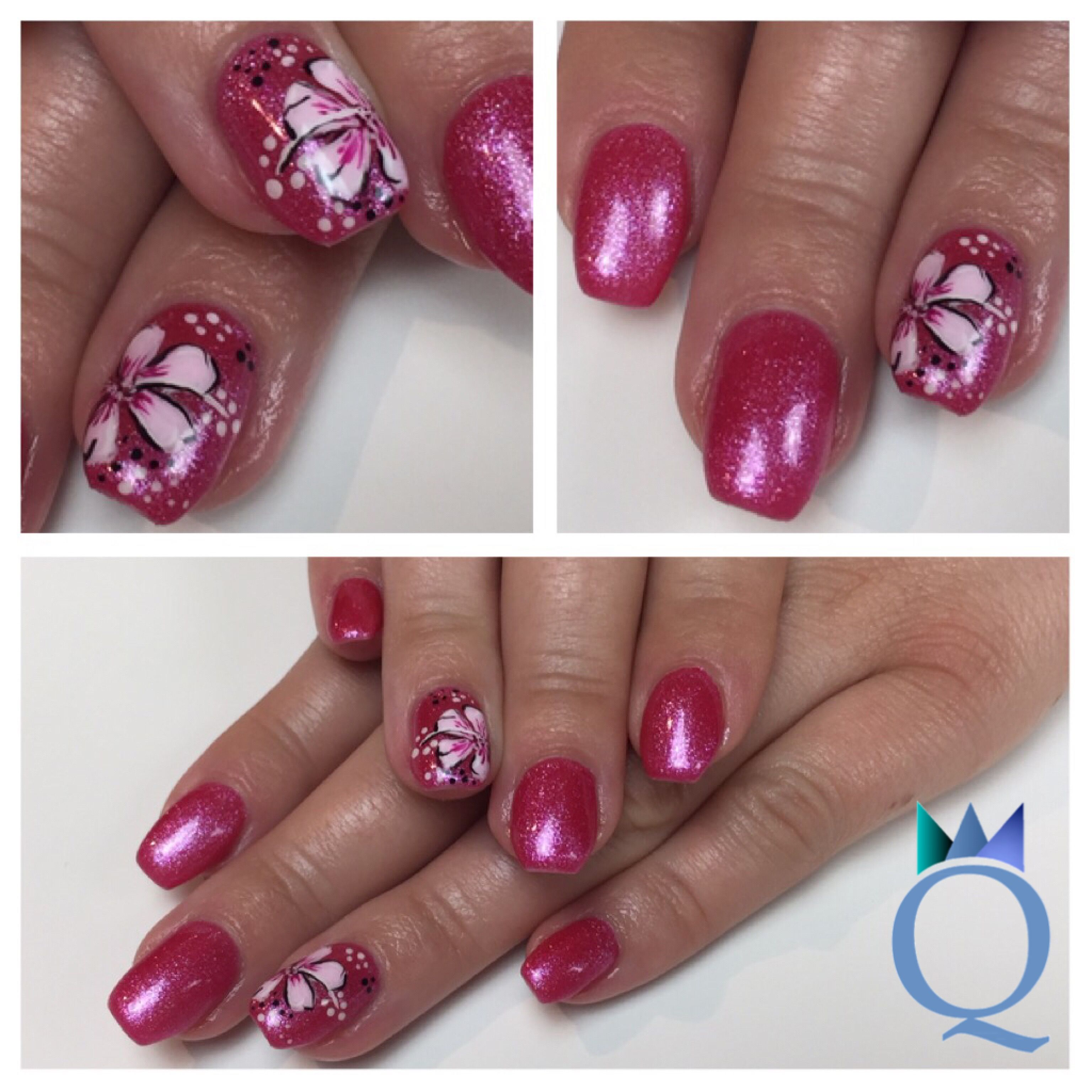 shortnails #coffinshape #ballerinanails #gelnails #nails #pink ...
