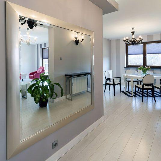 A Classy Silver Framed Mirror To Brighten Up Any Area At Home Mirror Interior Design Mirror Interior Home