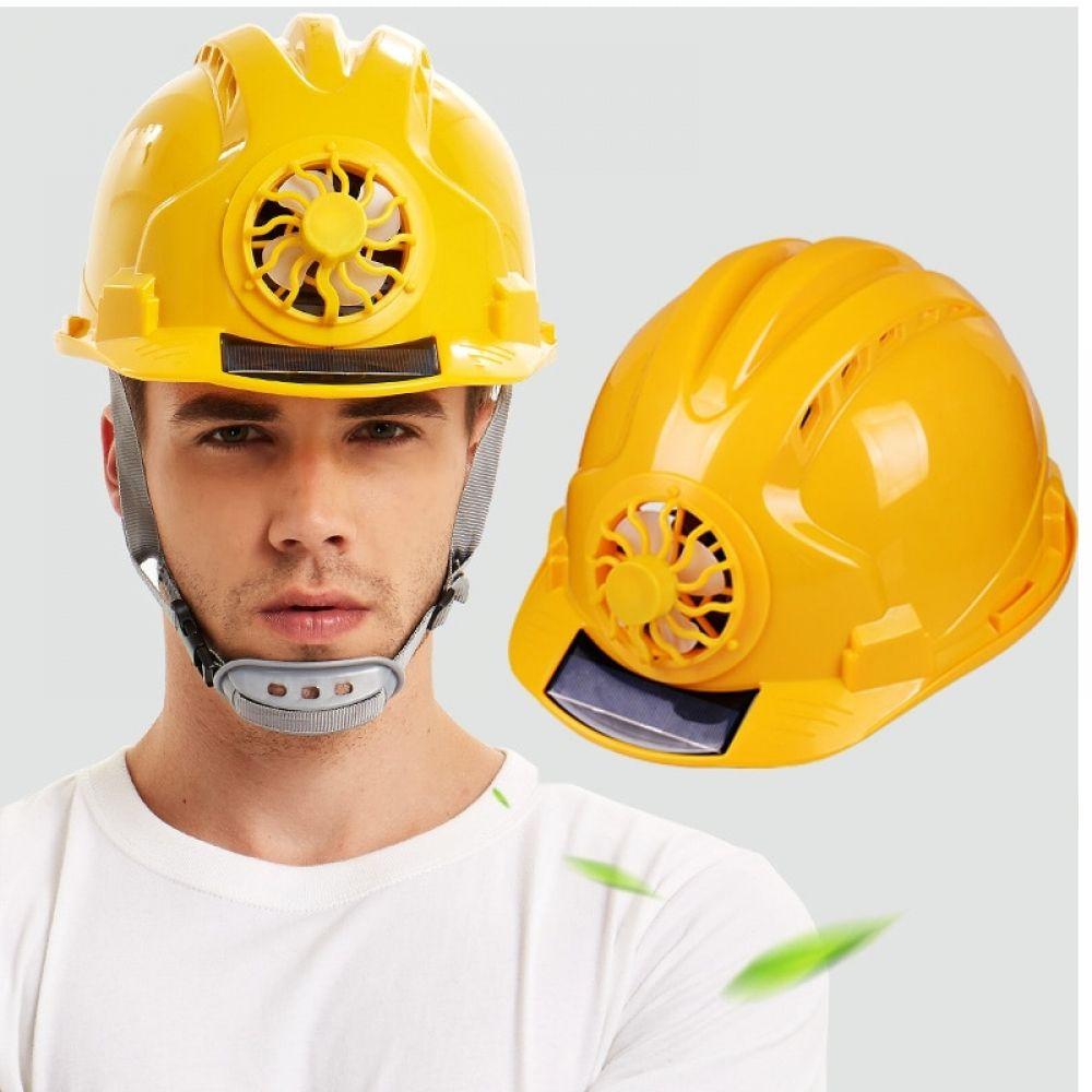 Solar Power Fan Helmet Safety Hard Construction Hat Solar Power Solar Panels Solar Fan