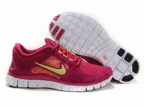 size 40 076a0 bcdfb Women Nike Free 3 5.0 EXT in Berry Red White Suede Run Shoes! Only  55.9USD