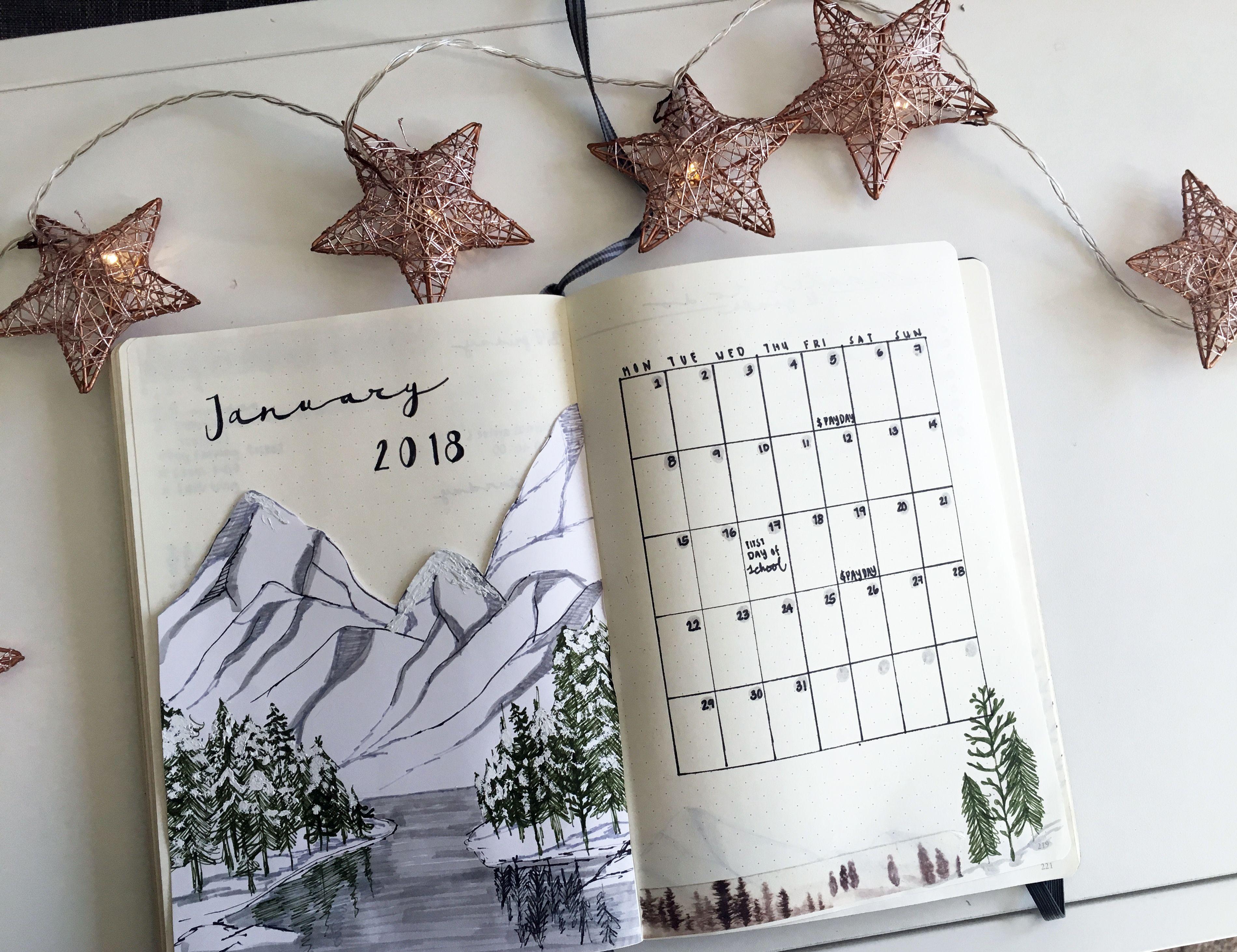 January 2018 Bullet Journal Bullet Journal Bullet Journal