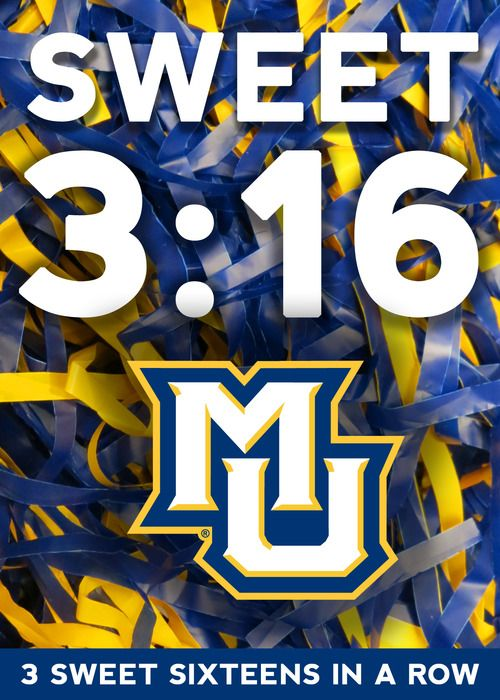 Sweet 3 16 Three Marquette Sweet Sixteens In A Row Biblical Win Marquette Marquette University Marquette Basketball