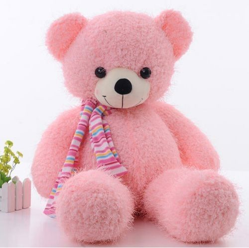 Cute Large Size Scarf Teddy Bear Stuffed Plush Toy