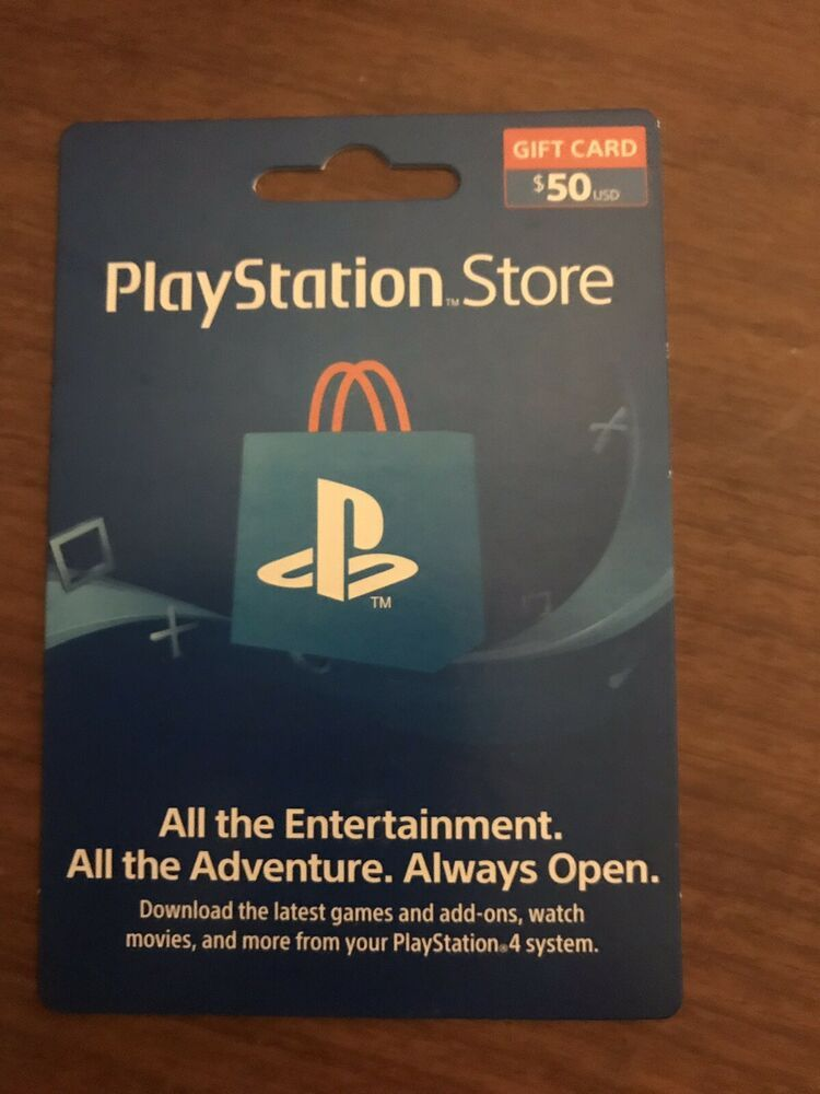 50 Playstation Store Gift Card For The Playstation Network Ps4 Gaming Video Free Gift Card Generator Ps4 Gift Card Gift Card