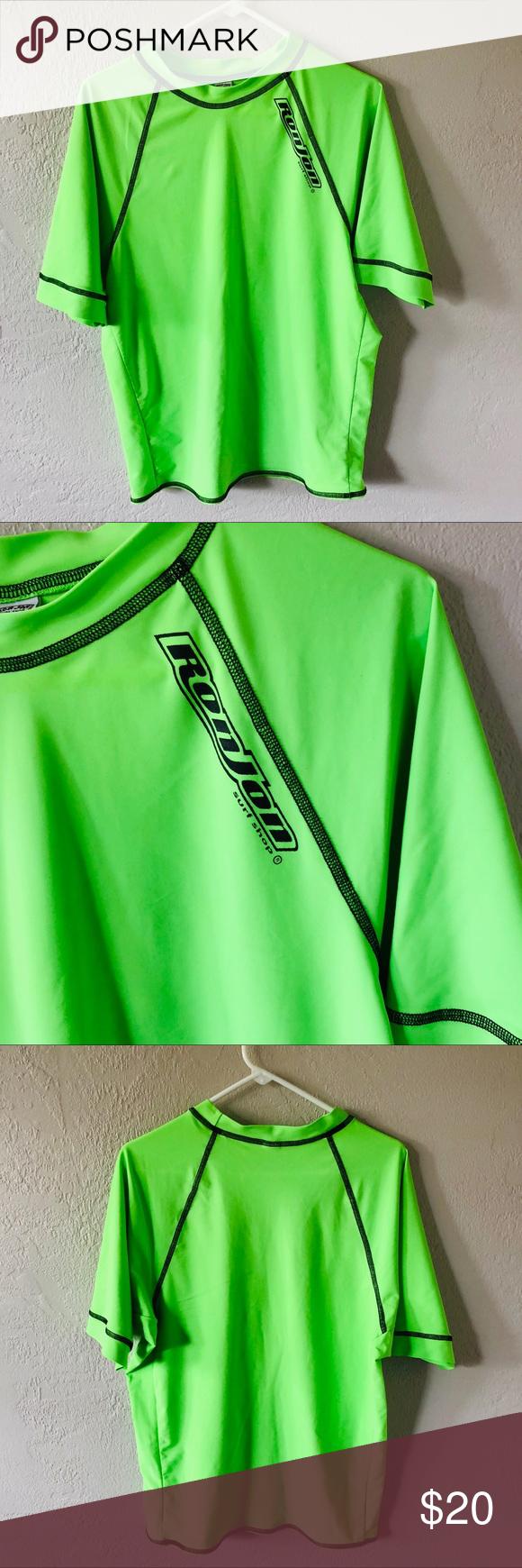 515de4056c Ronjon Neon Green Swim Shirt 3X Ronjon Neon Green Swim Shirt 3X Excellent  condition Ron Jon Swim Rash Guards