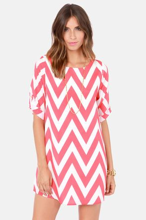 pink and white chevron dress   Gommap Blog