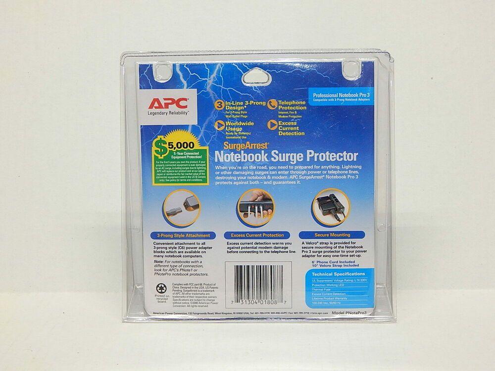 Details About New Apc Surgearrest Professional Notebook Pro3 Notebook Pro Surge Protector Surge Protector Apc Protector