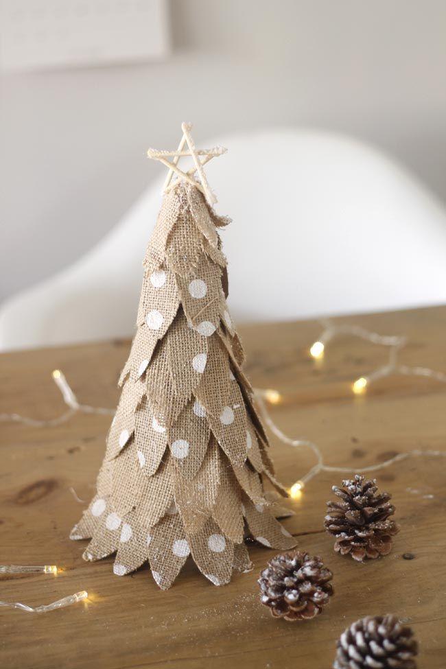 Un Pequeno Arbol De Navidad Facil Pequenos Arboles De Navidad Arbol De Navidad Navidad