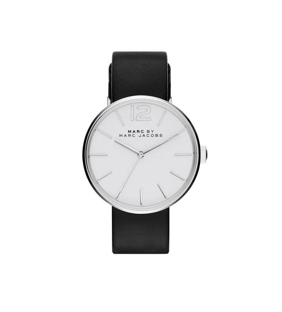 18a0aedd1668 Marc by Marc Jacobs Silver-tone and black Peggy watch Reloj