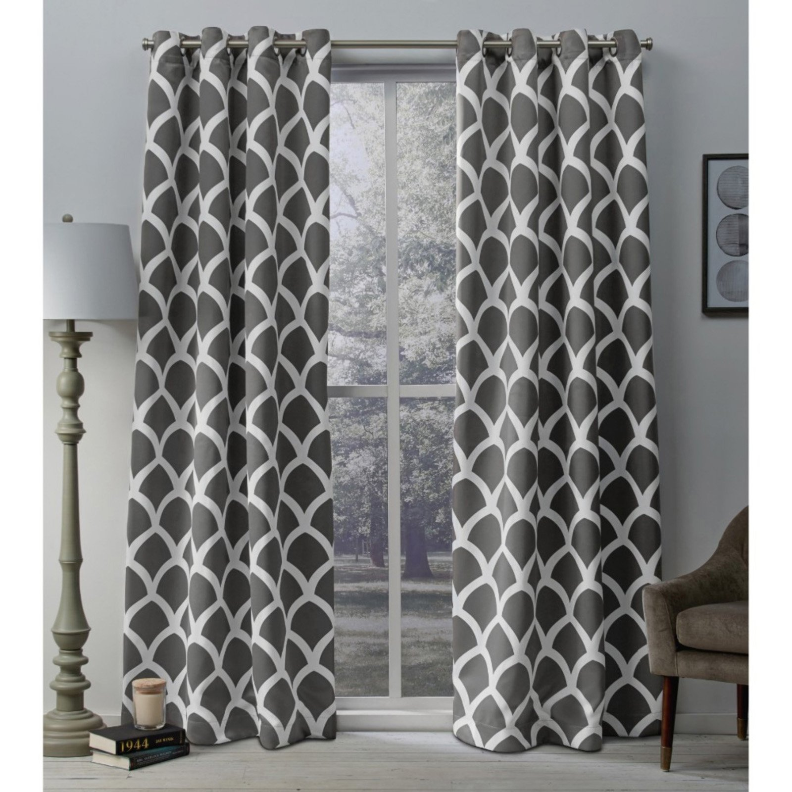 Exclusive Home Durango Printed Geometric Grommet Top Curtain Panel