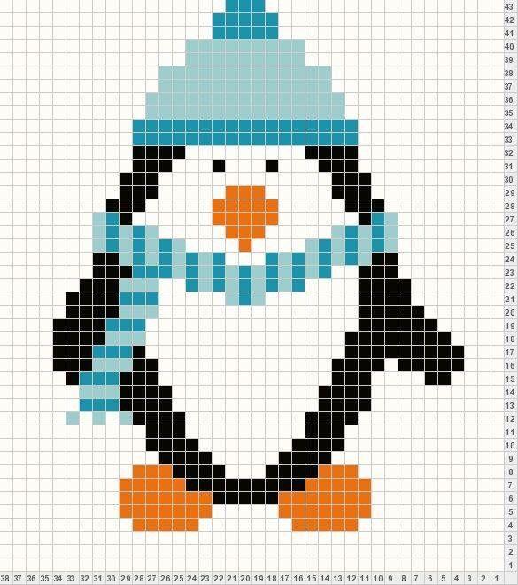 Penguen penguin | Cross stitch | Pinterest | Tasche häkeln ...