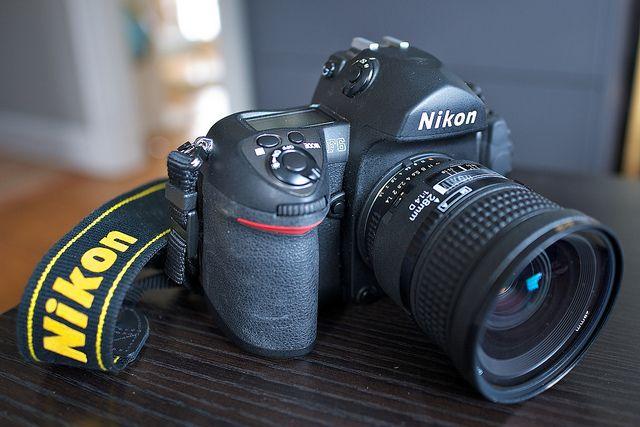 Nikon's best film camera, an F6 with perhaps Nikon's best lens