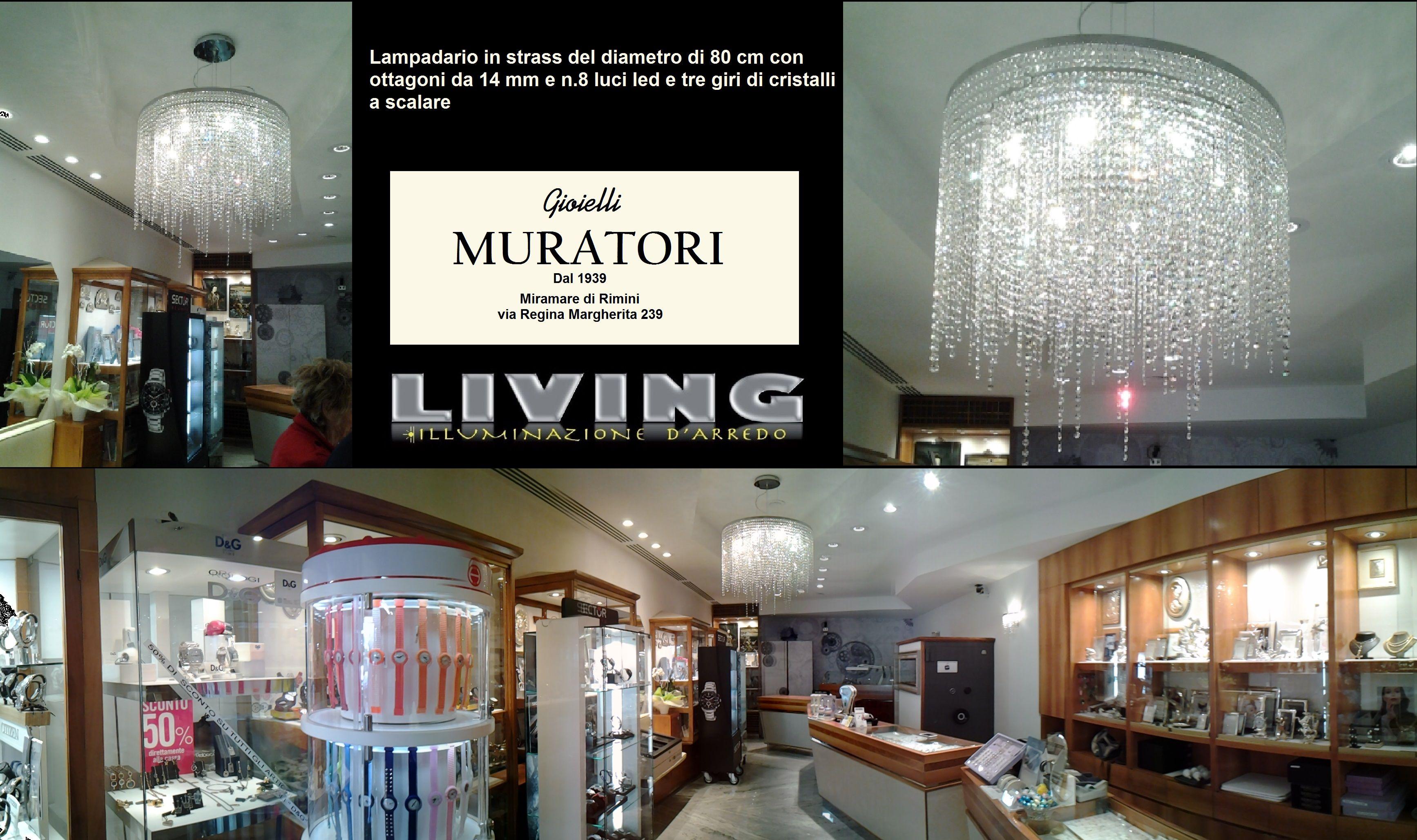 Faretti led per gioielleria arredamento negozi studio design
