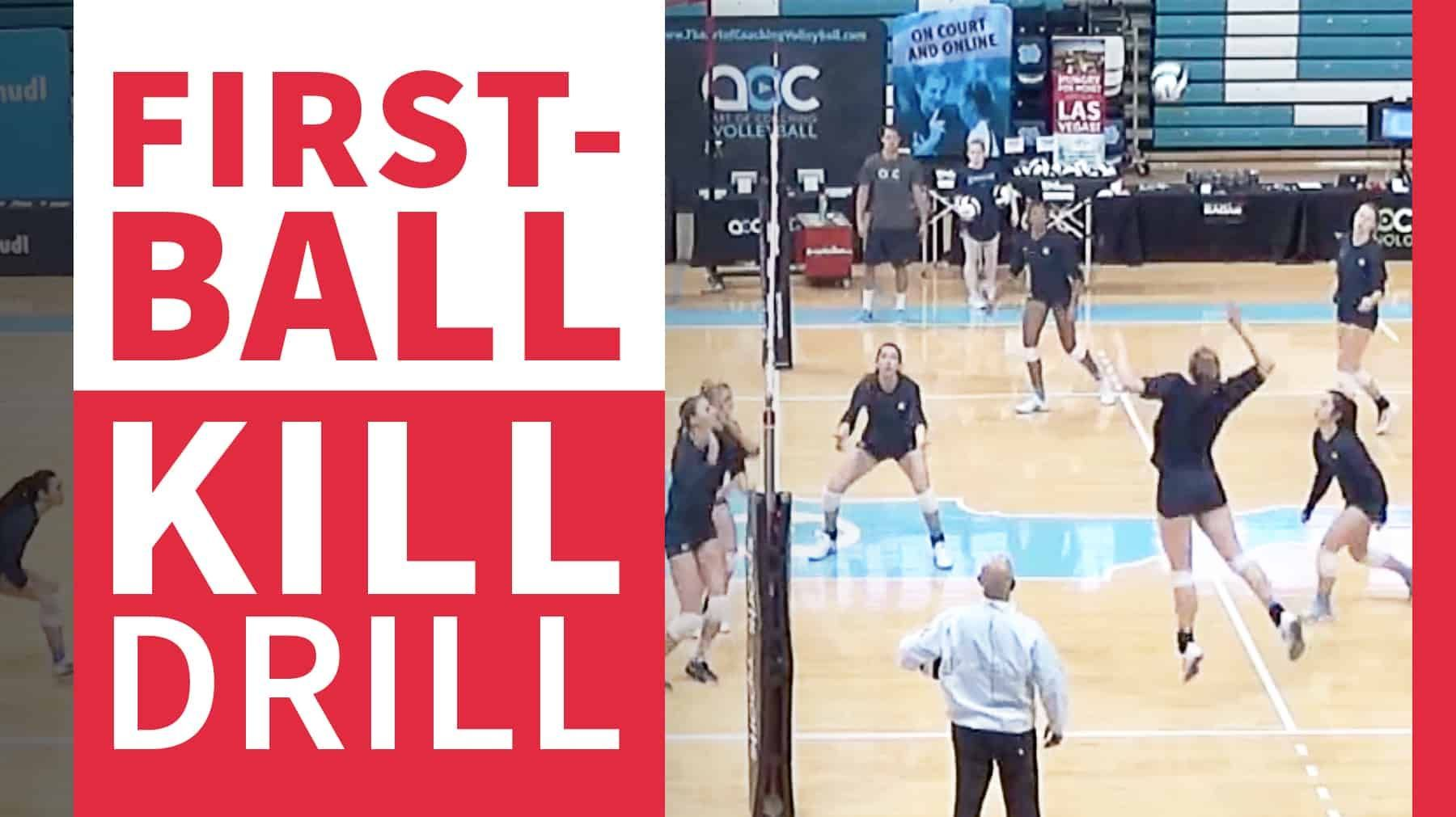 First Ball Kill Drill To Maximize Scoring Opportunities Coaching Volleyball Drill Coaching