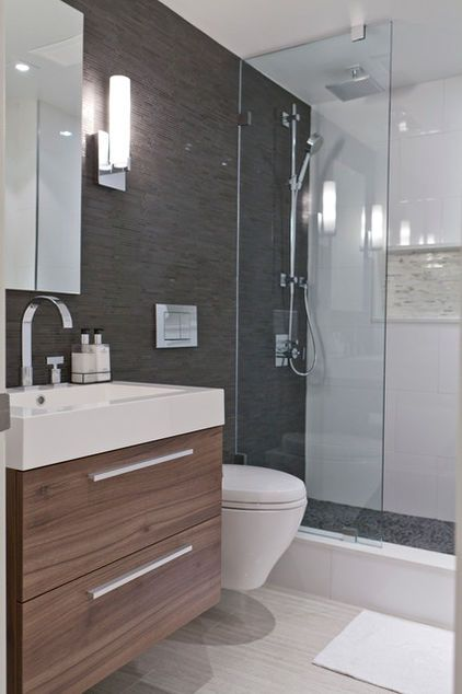 What A Gorgeous Assortment Of Tile Transitioning From Tile To Drywall Or From One Tile Type To Another Can Ensuite Shower Room Modern Bathroom Trendy Bathroom