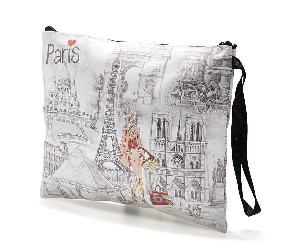 Damen Tasche GOLD Portemonnaie Paris Eifelturm