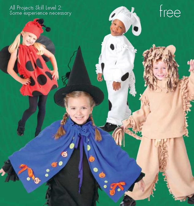 free no sew fleece halloween costumes patterns