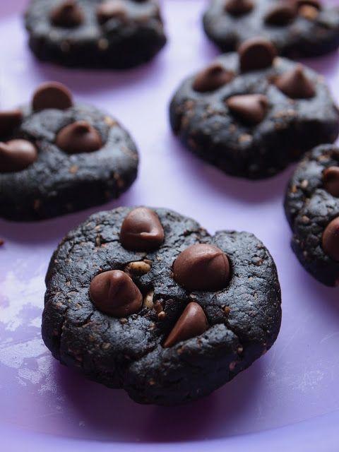 Peanut Butter Chocolate Fudge Cookies (Vegan, Gluten Free, Sugar Free) | SarahCupcake