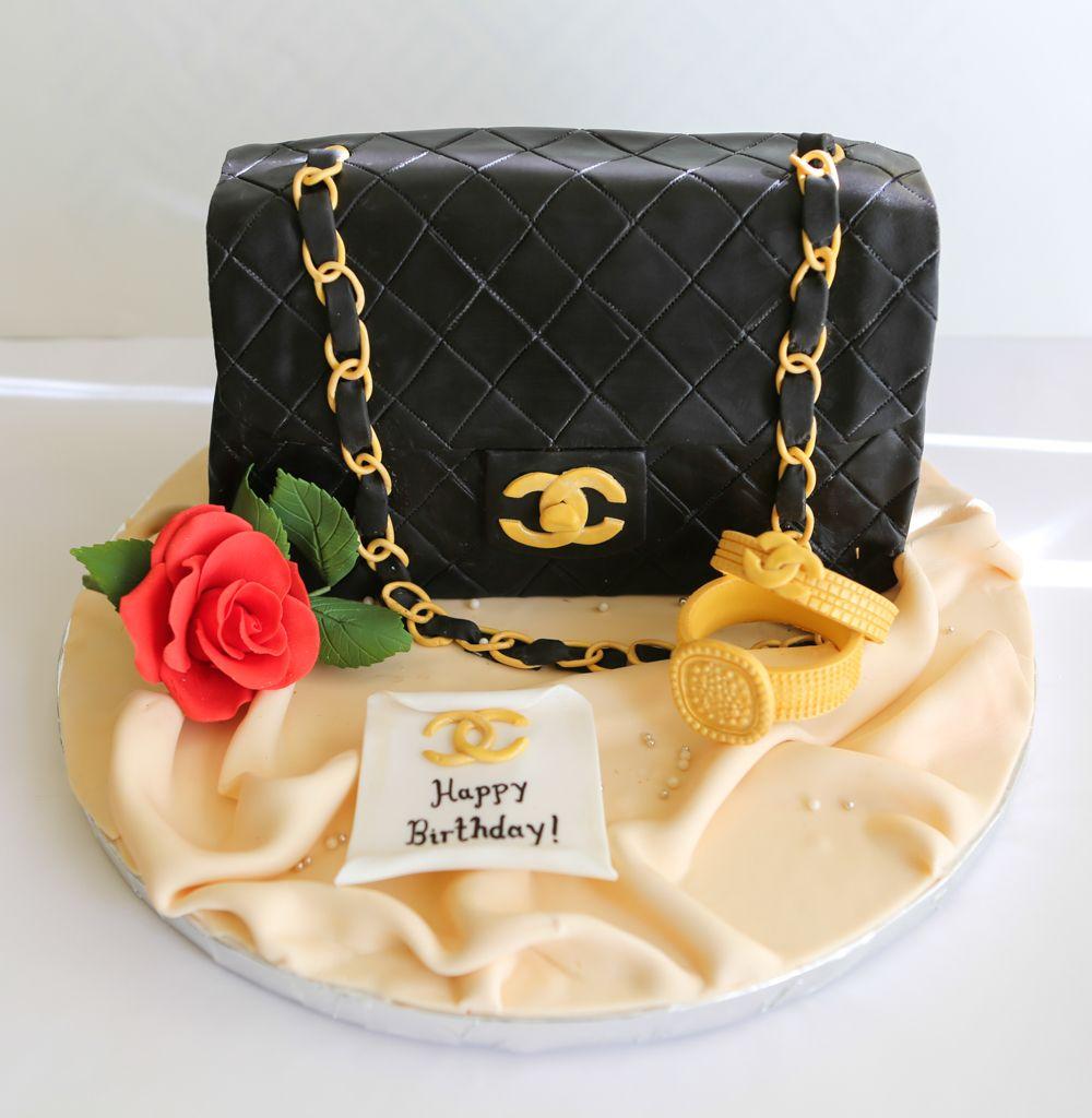 Chanel handbag cake chanel cake chanel cake decorating