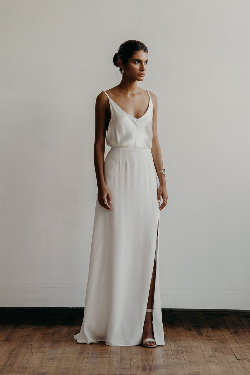 Lily dress front | Lena Medoyeff Studio | Bridal | Portland, Oregon ...