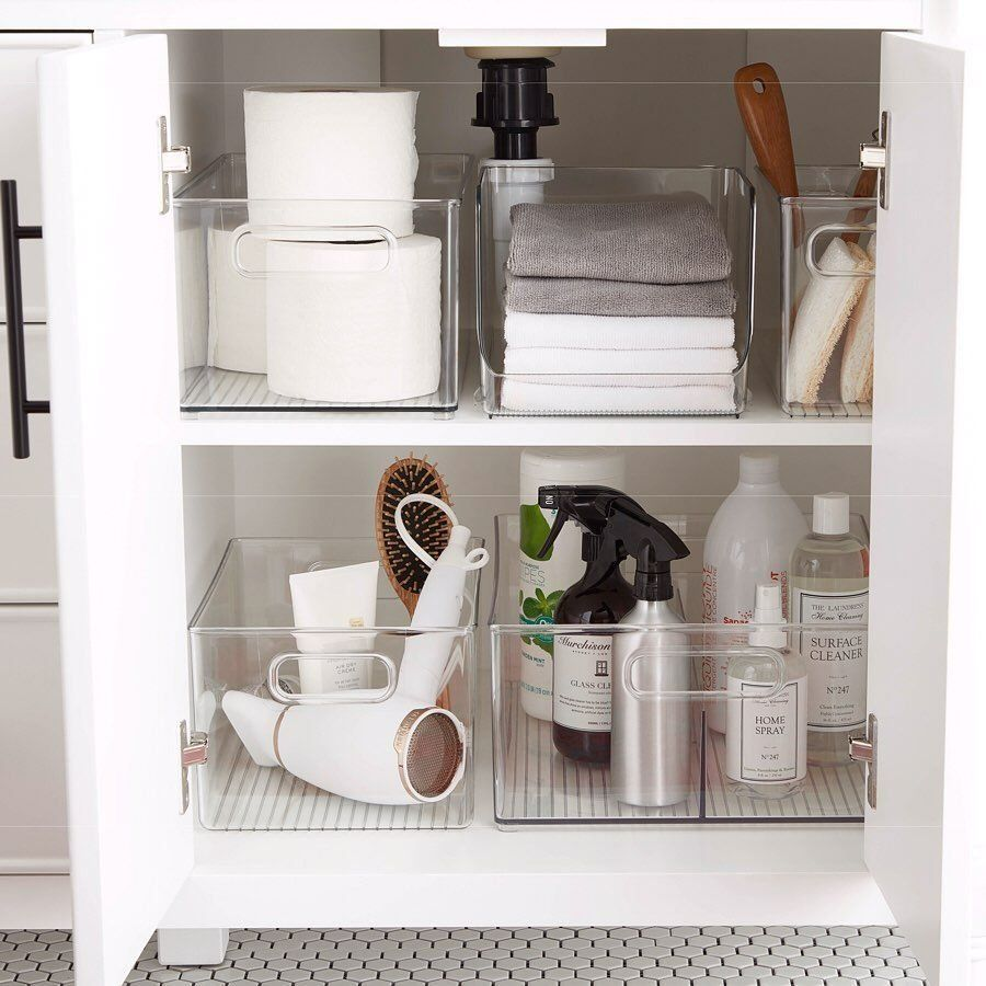 """The Container Store on Instagram: """"Beneath every sink lies great possibility. #MoreSpace"""" 