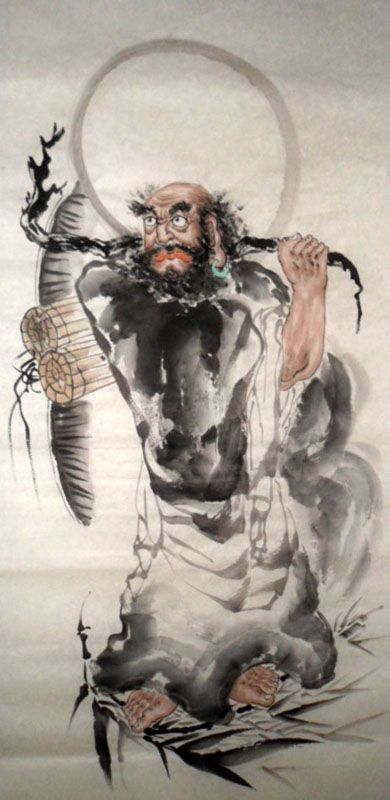 Bodhidharma (Father of Kung Fu and QiGong) Tamil Brahmin Prince and Buddhist Monk.