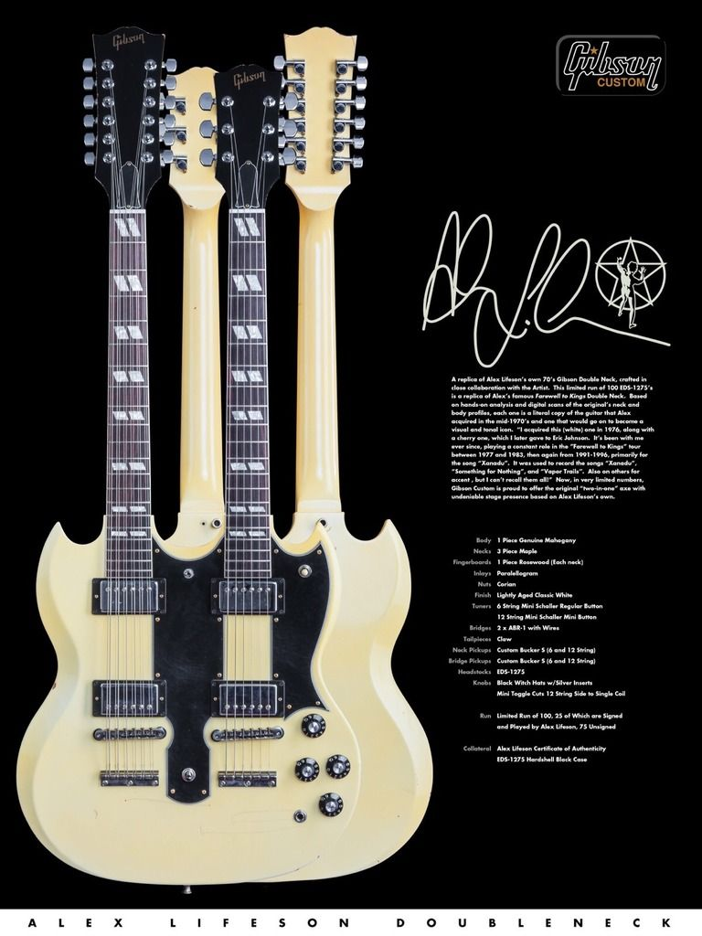 hight resolution of alex lifeson s guitar