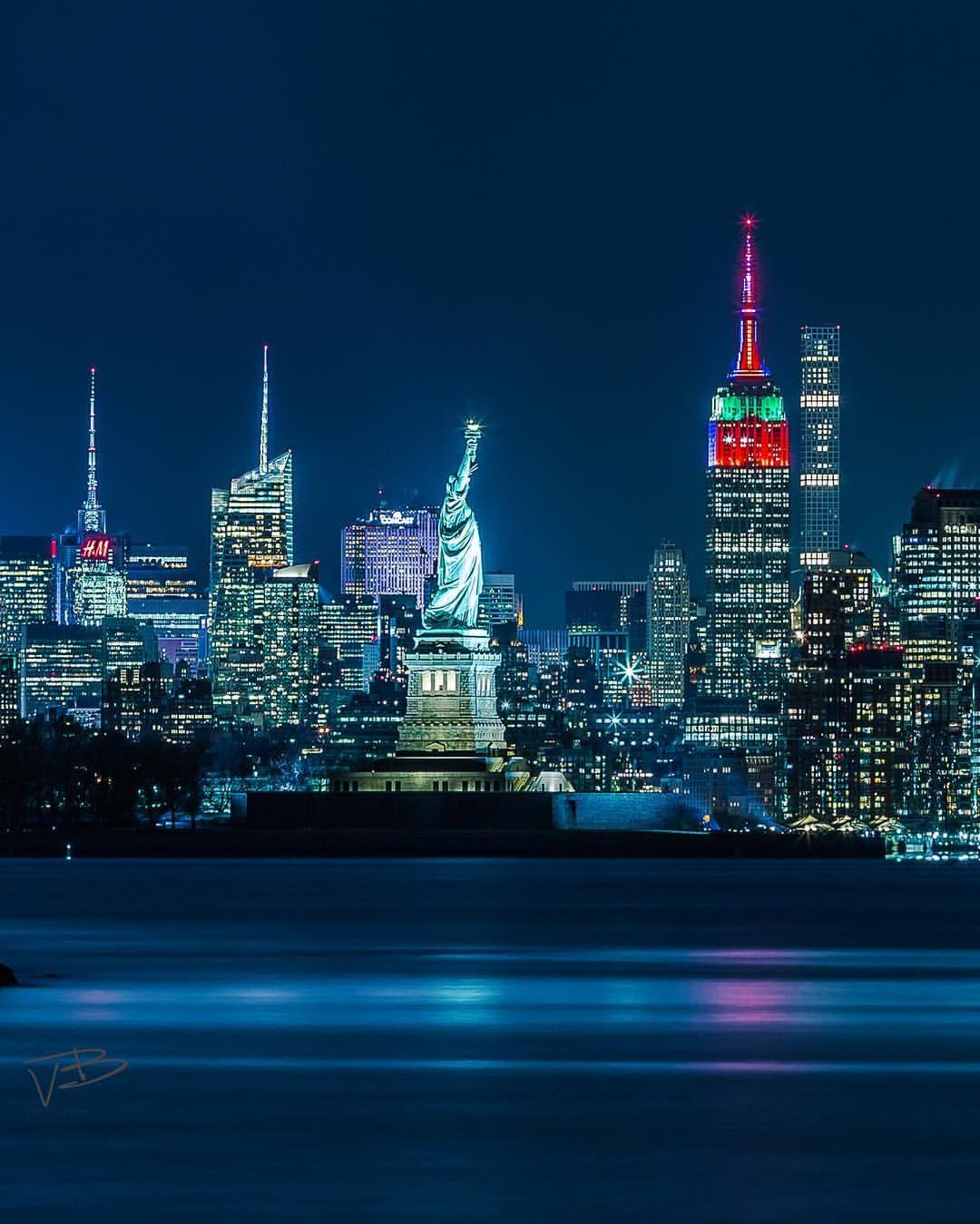 Statue Of Liberty New York City New York Sunset City New York City