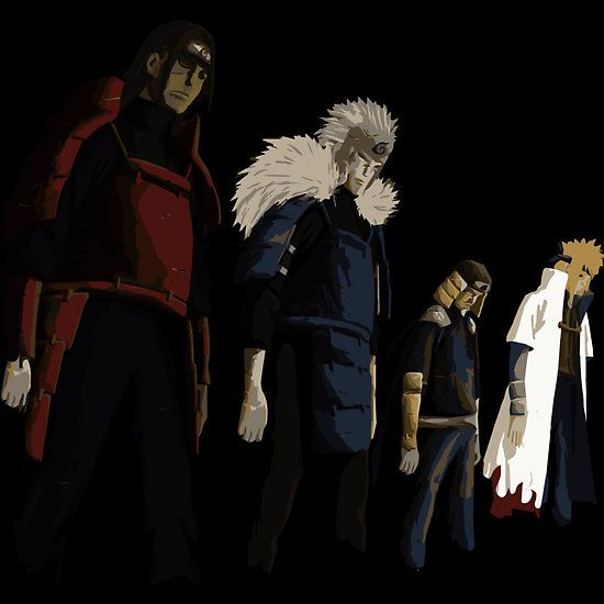 The Great Four ( the Great Naruto Hokage ) Available as Cards, Prints, Posters, T-Shirts & Hoodies, Kids Clothes, Stickers, iPhone & iPod Cases, and iPad Cases