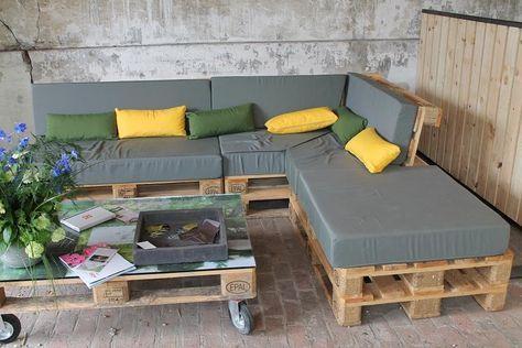 Construire un salon de jardin en bois de palette | Геленджик ...