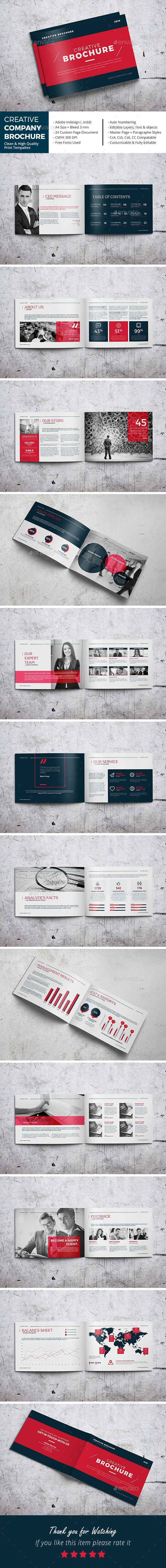 Creative Company Brochure Template InDesign INDD