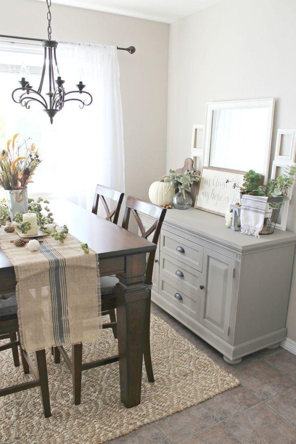 50 Stylish French Farmhouse Fall Table Design Ideas Buffet Table