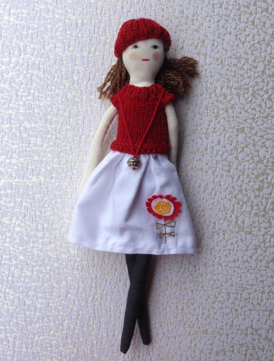 Cloth doll with clothes Handmade fabric doll doll set by Dollisimo