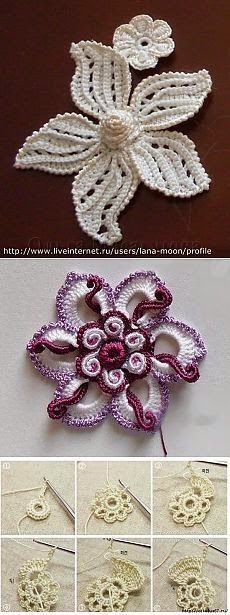 Modern crochet heart applique free pattern