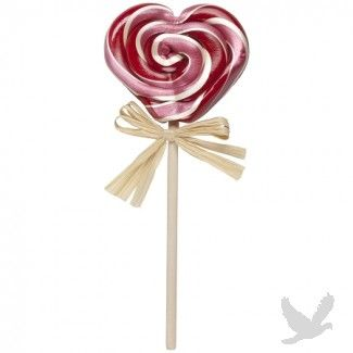 All Natural Cherry Heart Lollipop