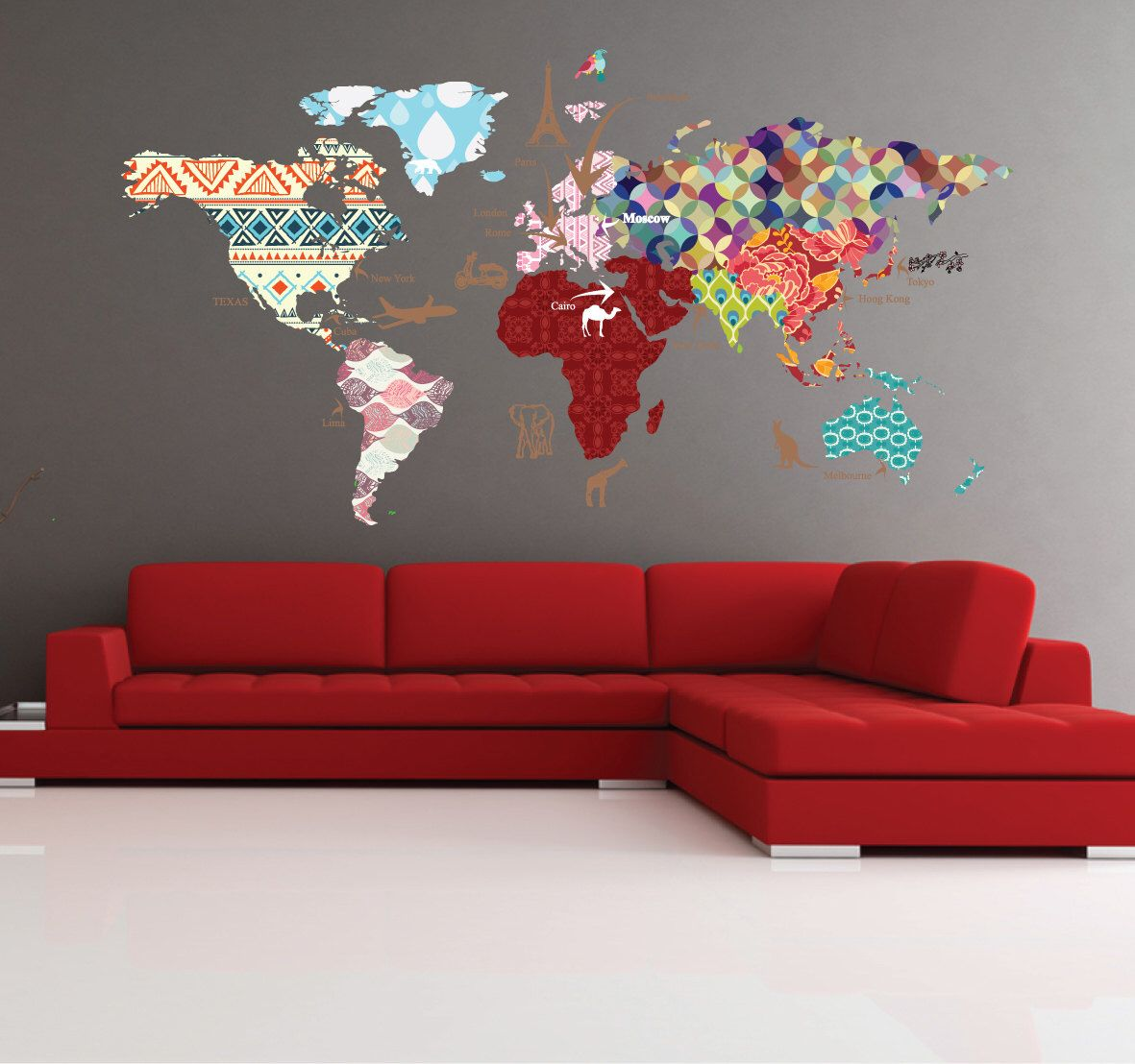 Cultural world map decal pattern map wall decal clear vinyl cultural world map decal pattern map wall decal clear vinyl decal nursery room gumiabroncs Image collections