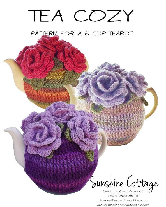 6 Cup Tea Cozy Pattern Rose Tea Cozy Pattern Crochet Tea | Getting ...