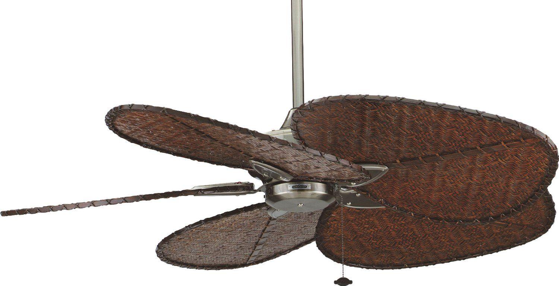Ventiladores de estilo tropical de Casa Bruno. Aspas de