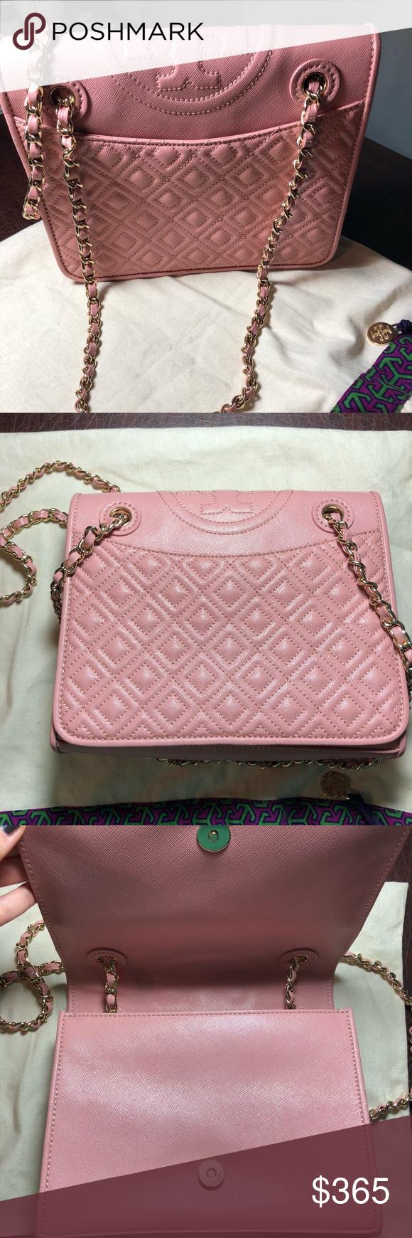 4156e096c80 Tory Burch Fleming Medium Bag Rose Sachet BRAND NEW!!! Tory Burch Fleming  Medium